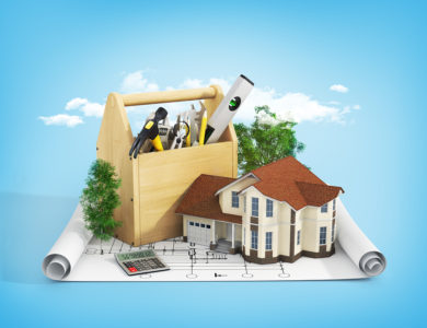 Concept Of Repair And Building House. Repair And Construction Of