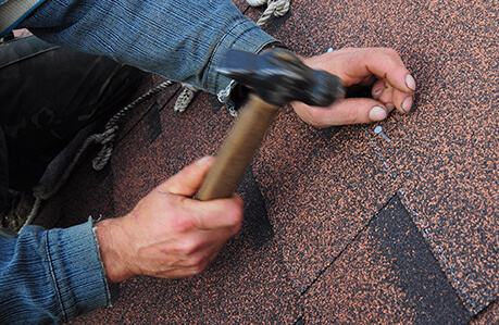 installing shingles directly over old roofing