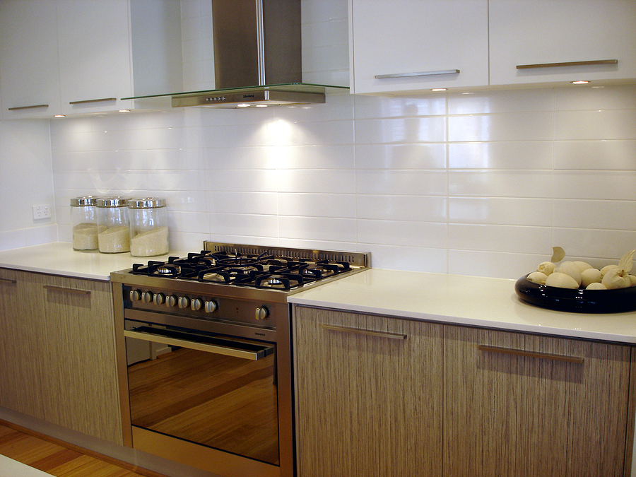 New modern galley kitchen is extremely functional.